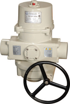 Image of the ProMation PCO spring return electric actuator with override handwheel